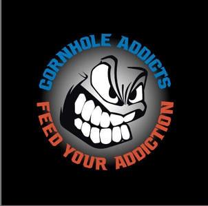 Black Cornhole Addicts Slide-Rite cornhole bags