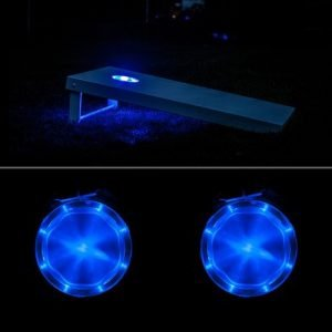blue cornhole led lights