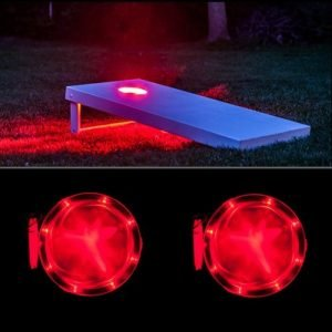red cornhole led lights