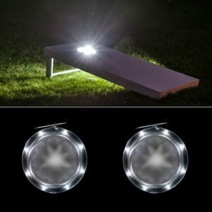 white cornhole led lights