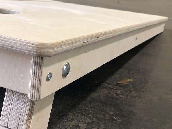 Cornhole Addicts Pro Boards construction side view