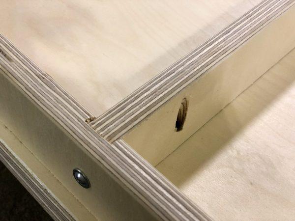 Cornhole Addicts Pro Boards construction bottom view