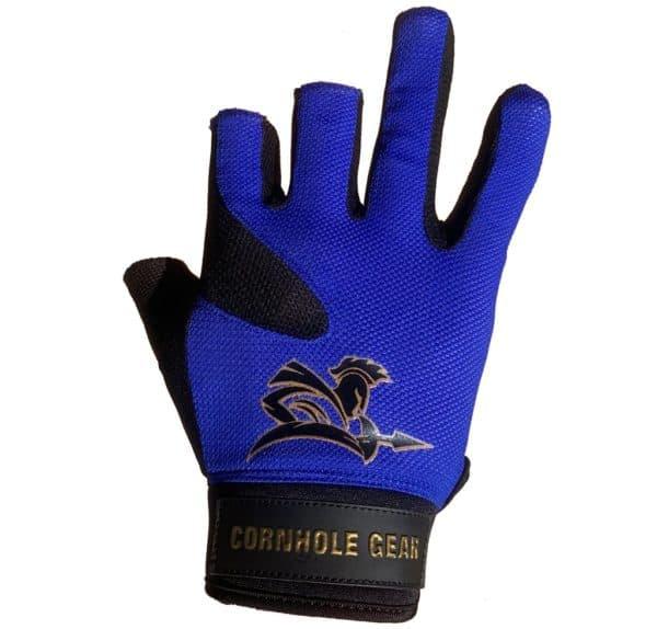 Blue pro cornhole glove