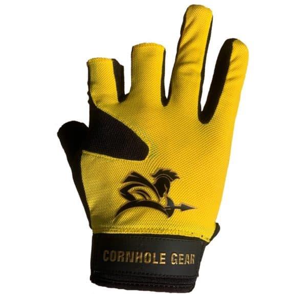 Yellow pro cornhole glove