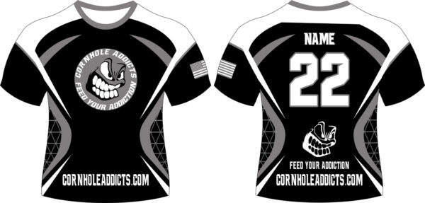 Blacked Out Cornhole Addicts jersey