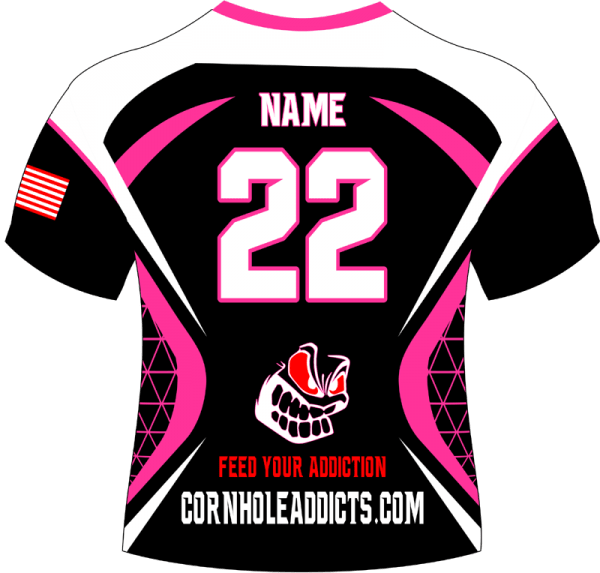 Addicts jersey backside in pink