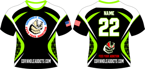 Lime Cornhole Addicts jersey