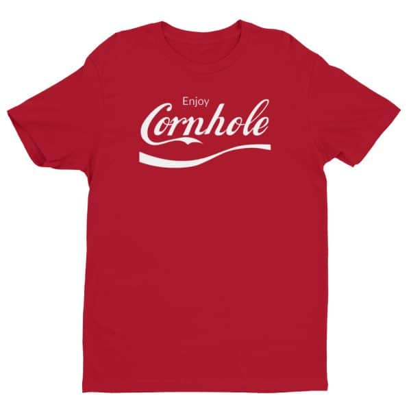 Red Enjoy Cornhole shirt