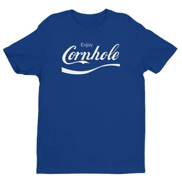 Blue Enjoy Cornhole shirt