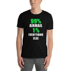Black airmail cornhole shirt