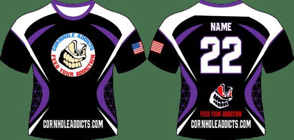 Purple Cornhole Addicts jersey