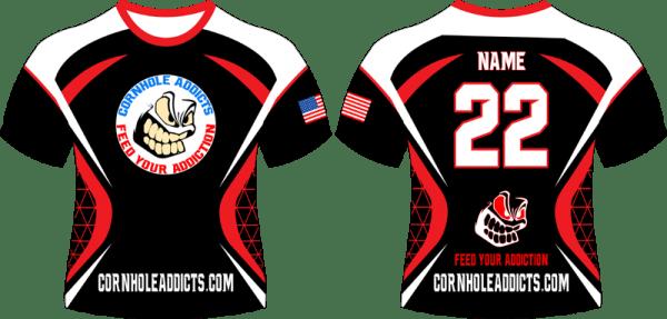 Red Cornhole Addicts jersey