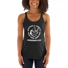 Women's Racerback Tank with White Addicts Logo
