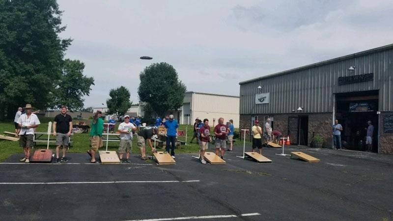 Fundraiser tournament outdoors