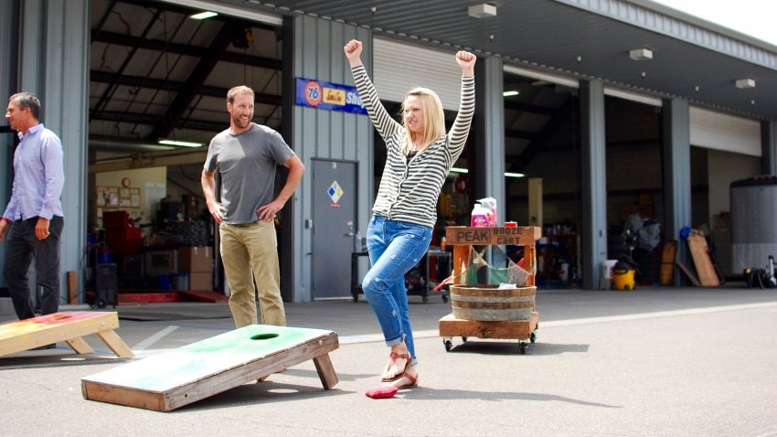 Tip #1 to dominate the mental aspect of cornhole is to have fun!