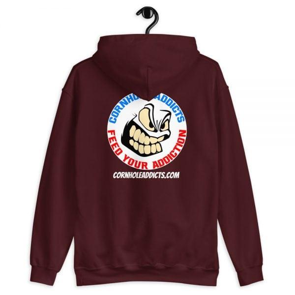 Addicts Cozy Hoodie White Circle Logo on Back 1