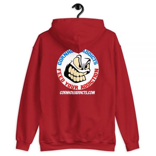 Addicts Cozy Hoodie White Circle Logo on Back 6