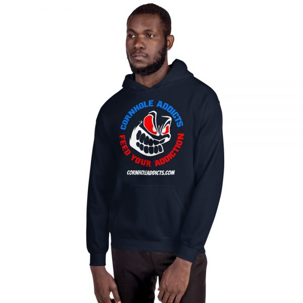 Addicts Hoodie w/Color Front Design 2
