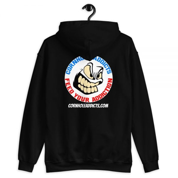 Addicts Cozy Hoodie White Circle Logo on Back 2
