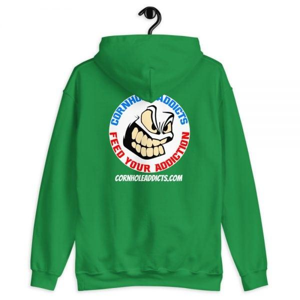 Addicts Cozy Hoodie White Circle Logo on Back 5