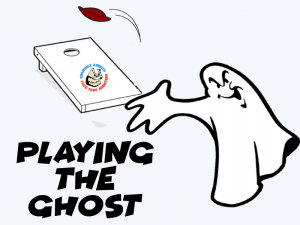 Playing the ghost is great for cornhole practice