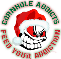Christmas Cornhole Addict logo