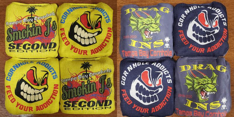 Smokin J's and Drag Ins cornhole bags