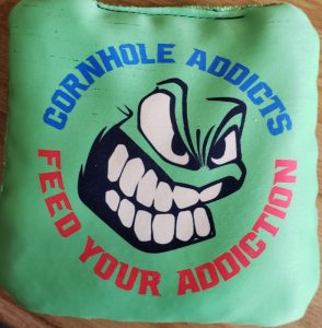 Micro Knit side of Mach 1 Cornhole Bag
