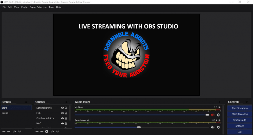 Live streaming with OBS