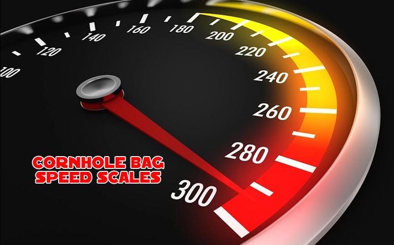 Cornhole bag speed scales