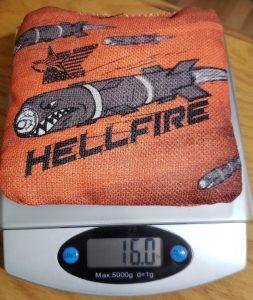 Hellfire cornhole bag