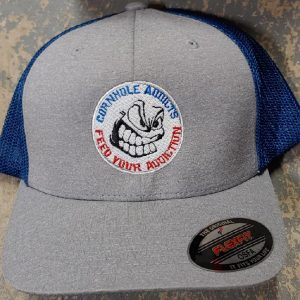Grey/Royal Addicts Flexfit hat