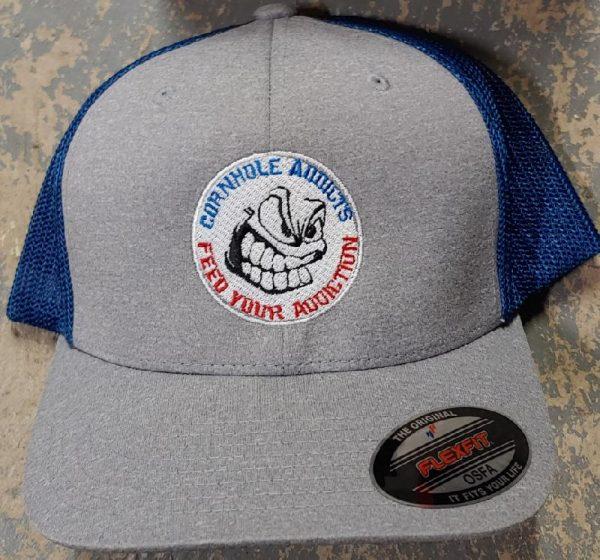 Grey/Royal Addicts Flexfit hat