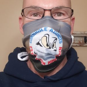 Cornhole Addicts pleated face mask