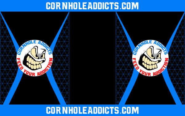 Blue Cornhole Addicts Pitch Pads