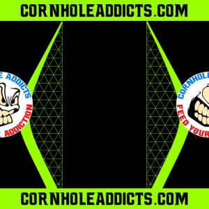 Lime Cornhole Addicts Pitch Pads