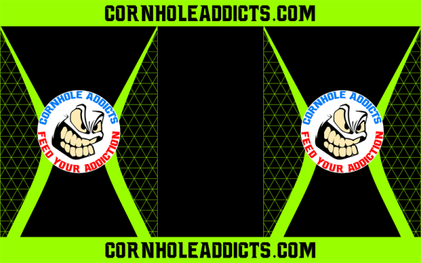 Lime Cornhole Addicts Pitch Pads