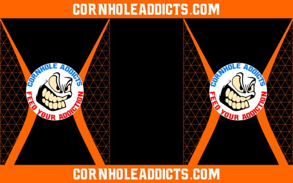 Orange Cornhole Addicts Pitch Pads