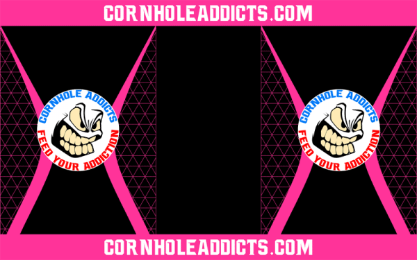 Pink Cornhole Addicts Pitch Pads