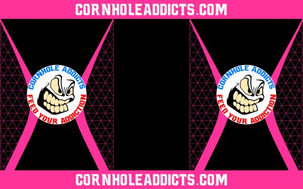 Pink Cornhole Addicts Pitch Pads