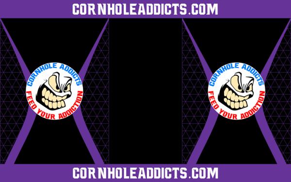 Purple Cornhole Addicts Pitch Pads