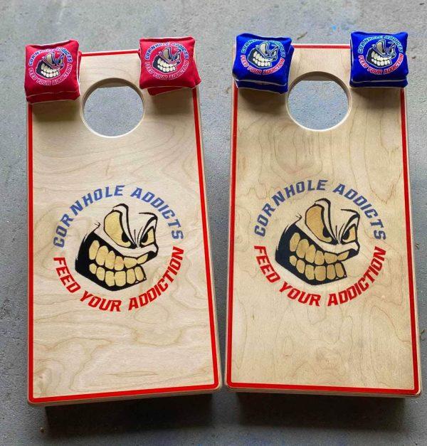 Addicts Mini Cornhole Boards