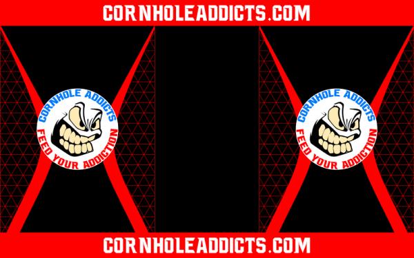 Red Cornhole Addicts Pitch Pads
