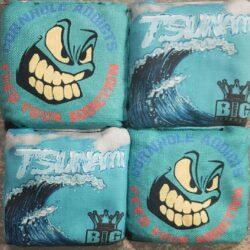 Blue Tsunami Cornhole Bags