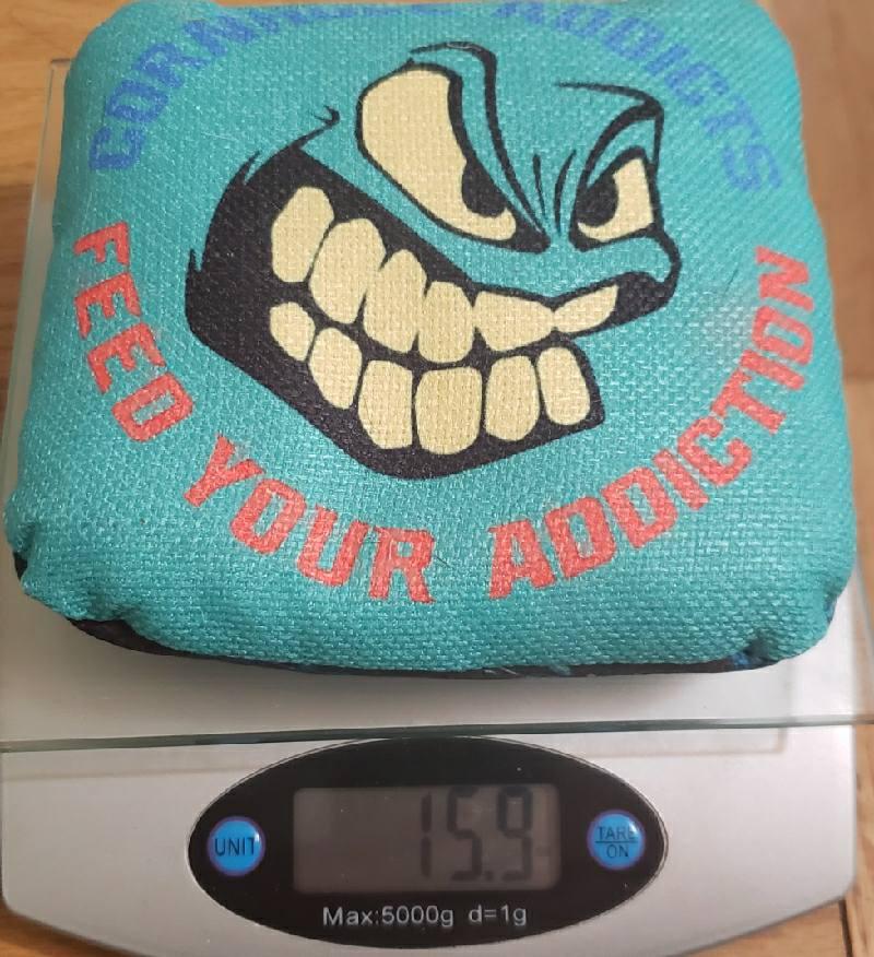 Weight of Tsunami cornhole bags from Big Daddy Cornhole