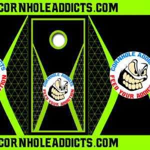 Lime Totally Addicted Cornhole Addicts package deal