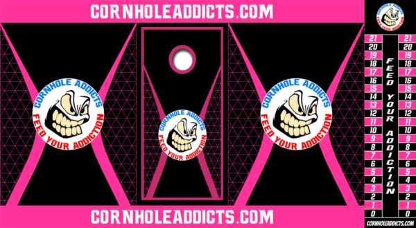 Pink Totally Addicted Cornhole Addicts package deal