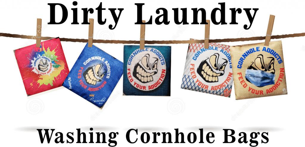 Washing cornhole bags