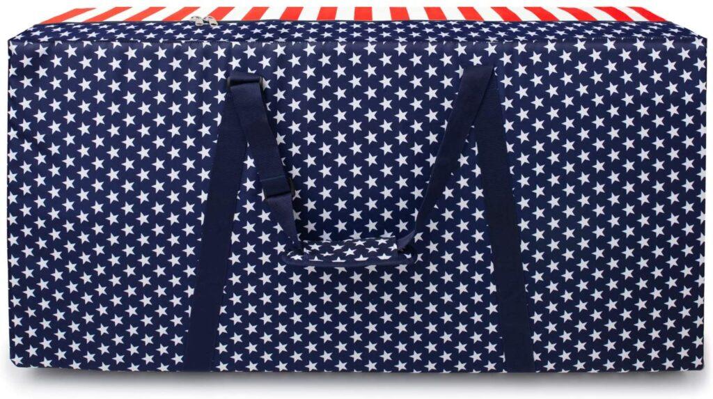 Patriotic cornhole boards carry case
