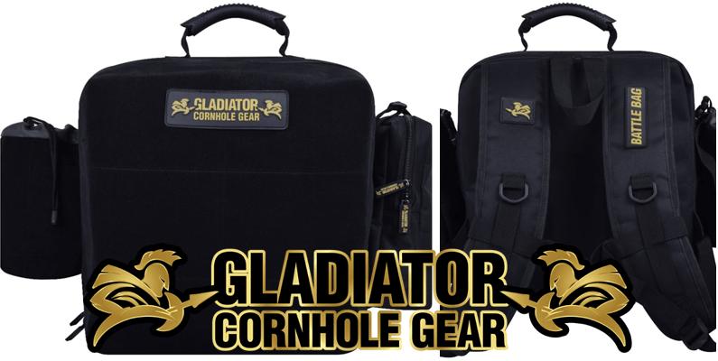 Gladiator Battle Bag cornhole bag backpack with dividers